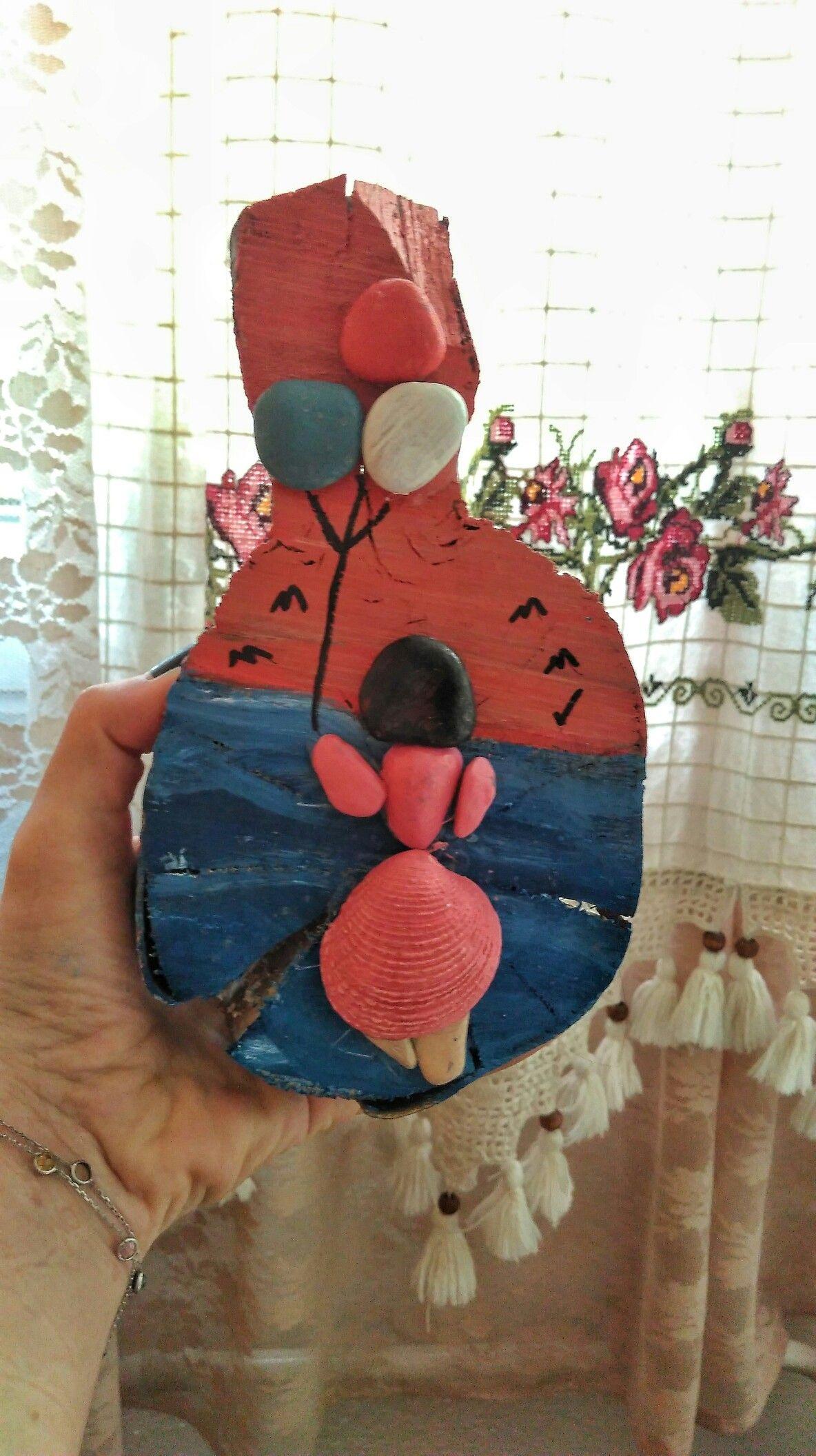 Balon Tutan Kız Kütük üzerine Taş Boyama Taş Boyama Kids Rugs