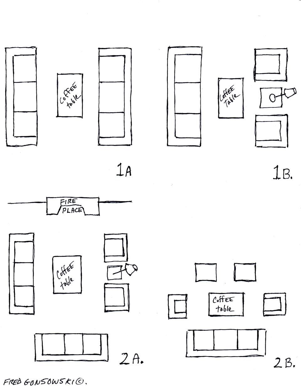 Different ways to arrange furniture in the same room | Awkward room ...