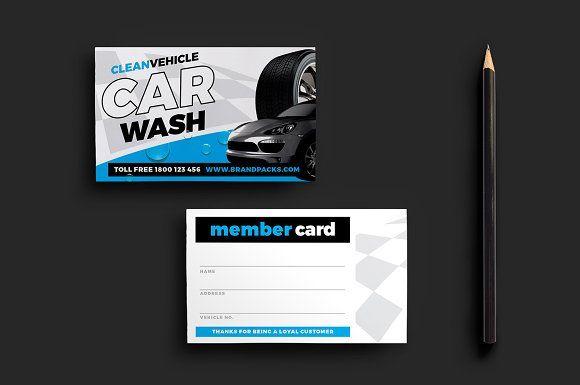 Car Wash Member Card Template Desain Inspirasi