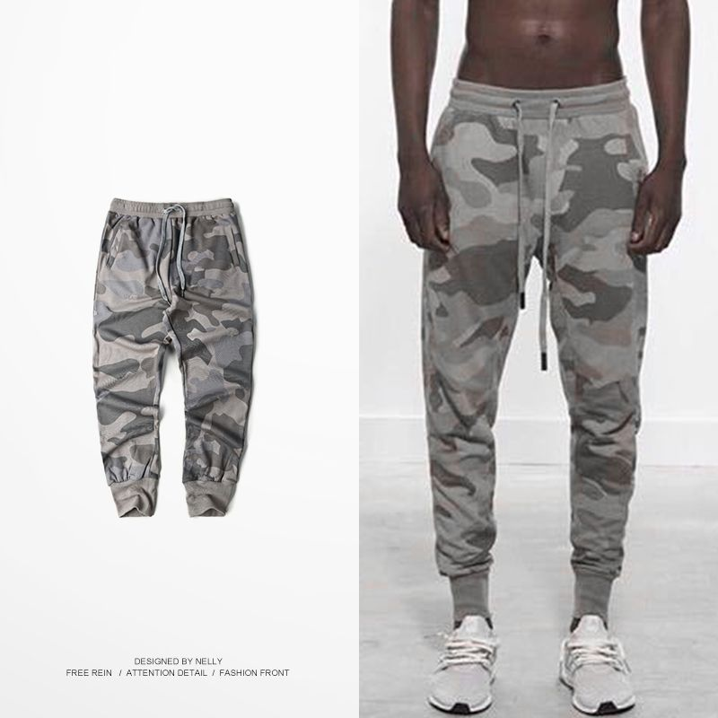 Camouflage Pants Men Women Tactical Military Army Style Sweatpants Kanye  West Loose Casual Joggers Pantalones Hombre