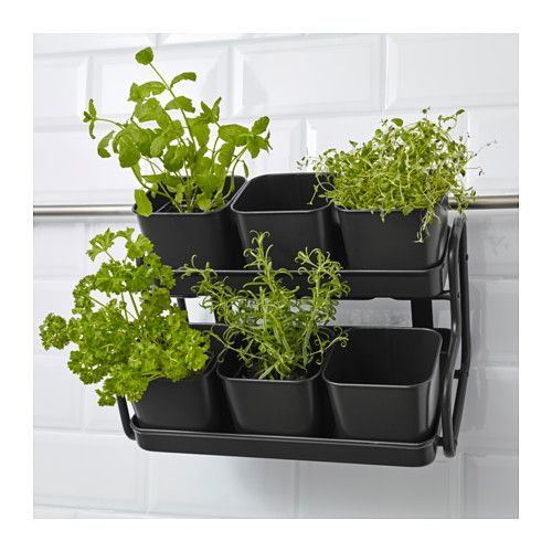 Socker Plant Pot With Holder Ikea You Can Hang The Flower Box And From A Balcony Rail Create Decorative Garden Even On Small E
