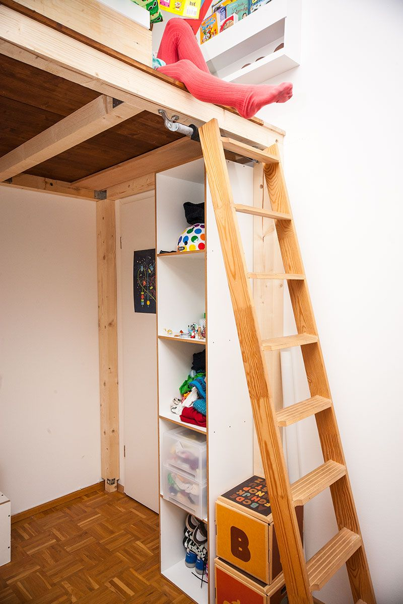 ein hochbett selber bauen diy anleitung bett hochbett bett und hochbett selber bauen. Black Bedroom Furniture Sets. Home Design Ideas