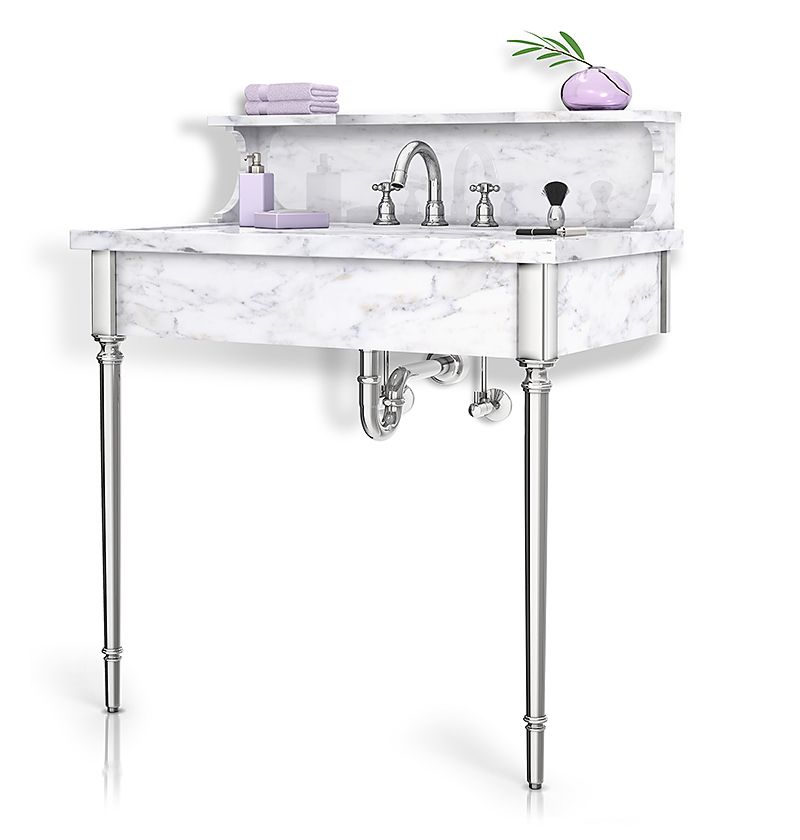 Providence Palmer Industries Vanity Metal Sink Base