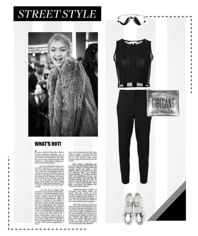 """""""Girlgang #gigihadid"""" by fragolinomartina ❤ liked on Polyvore featuring MICHAEL Michael Kors, Acne Studios and Opening Ceremony"""