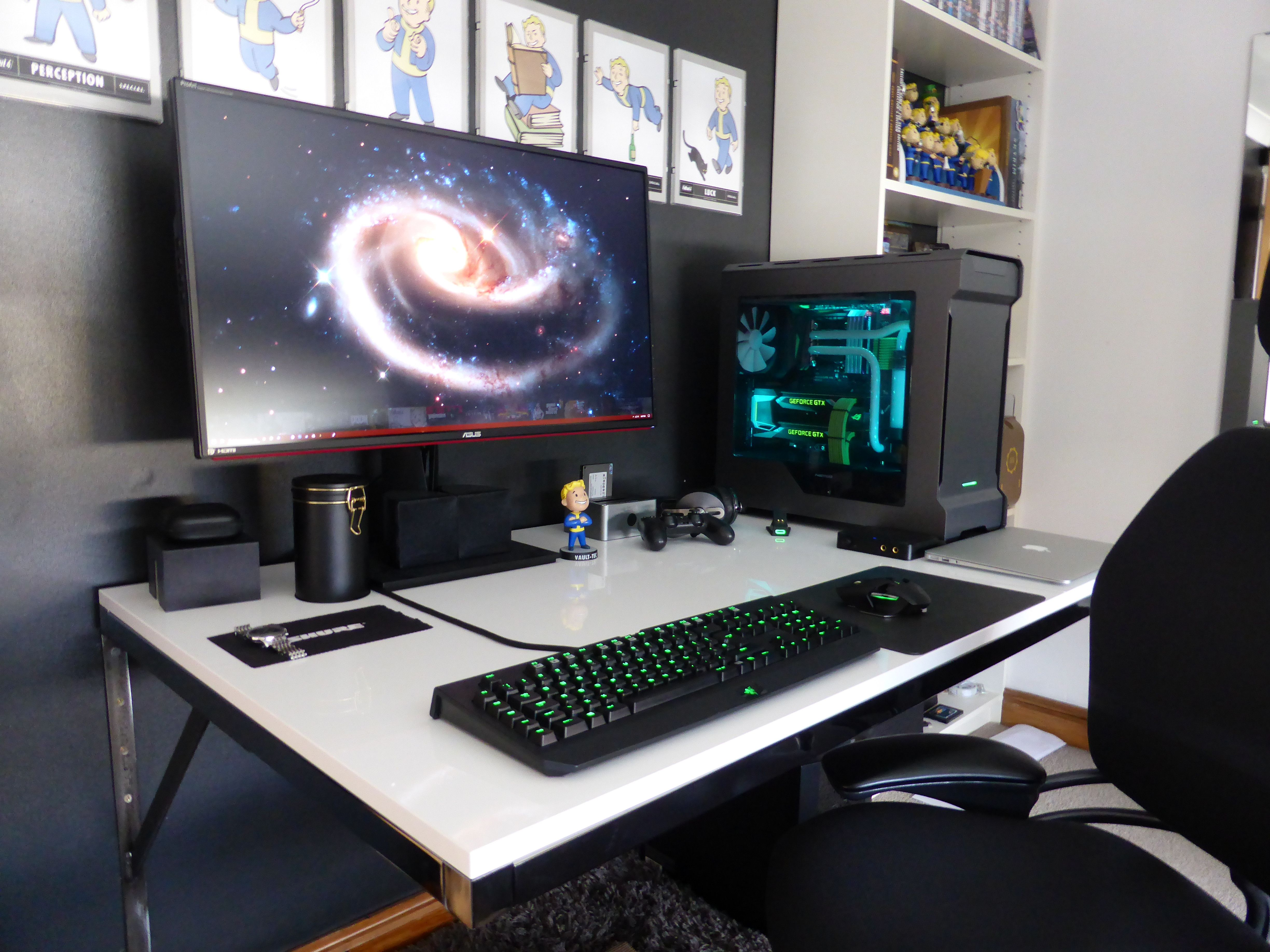 My Current Wall Mounted Gaming Station Gaming Room Setup Room Setup Best Gaming Setup