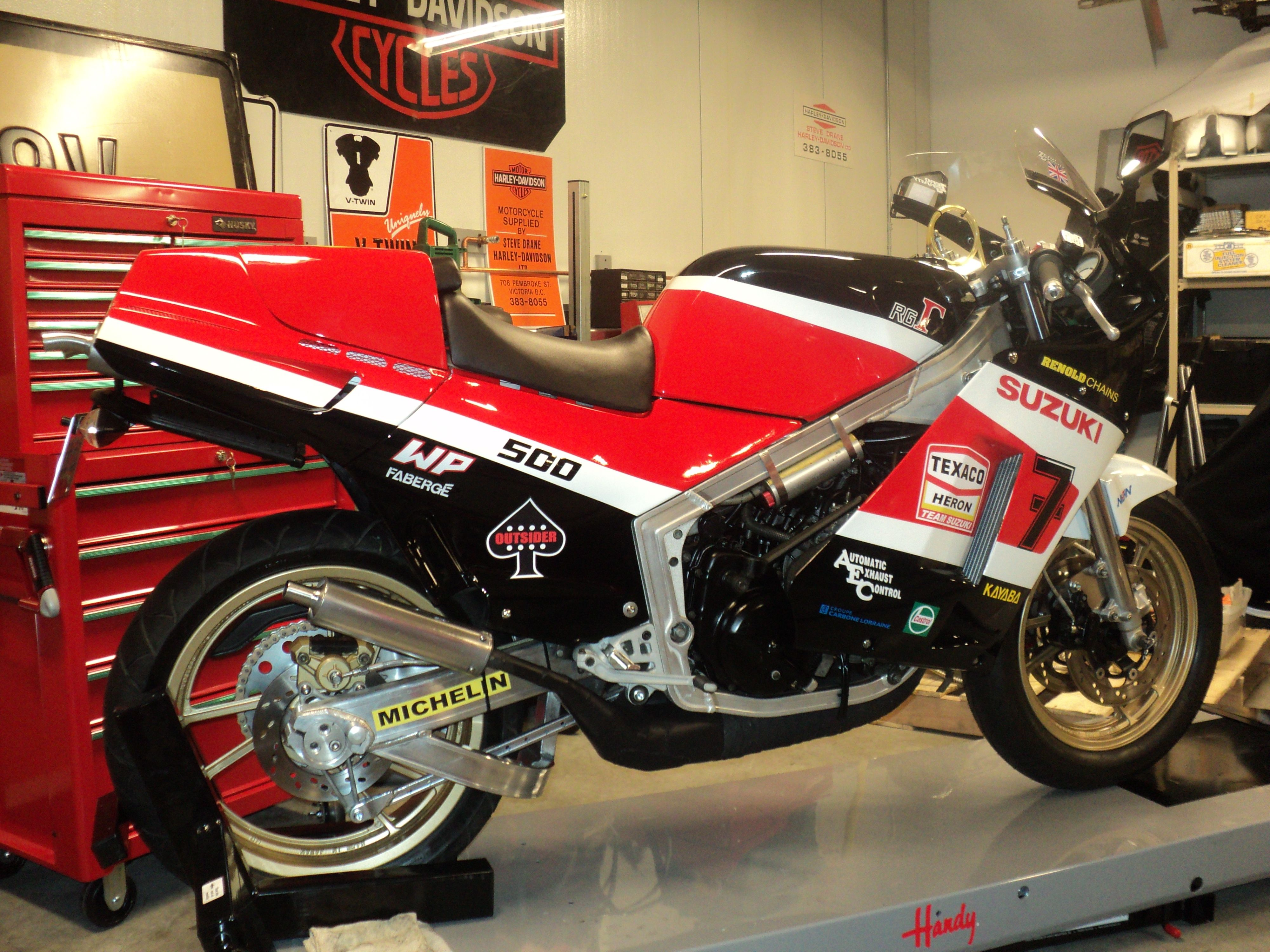 My 86 RG500,tons of mods,2 Championships,(1989+1997),owned
