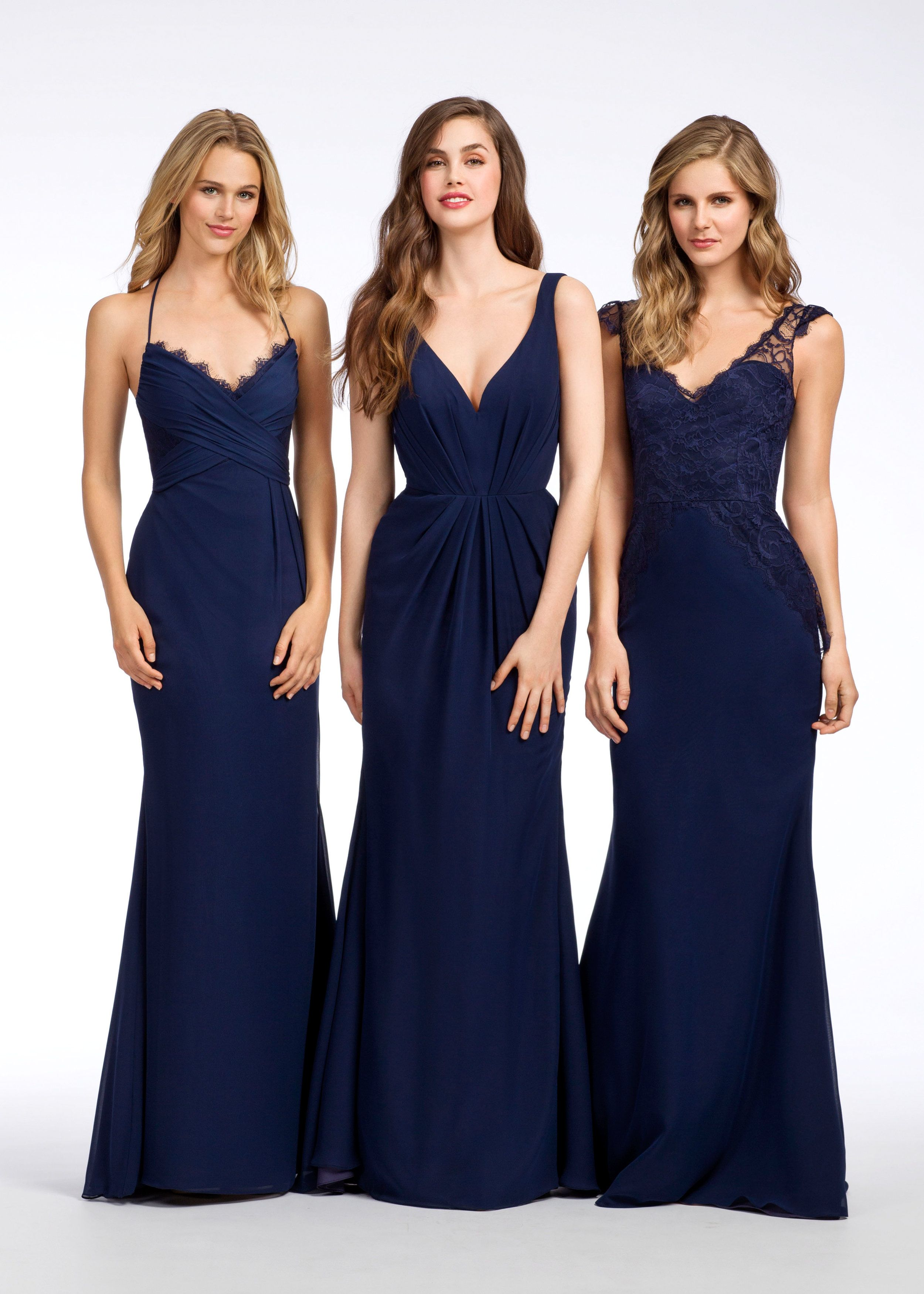 Style 5651 group view bridesmaid dresses pinterest hayley paige indigo chiffon a line bridesmaid gown v neckline natural waist with sunburst draped skirt open cut out back ombrellifo Gallery