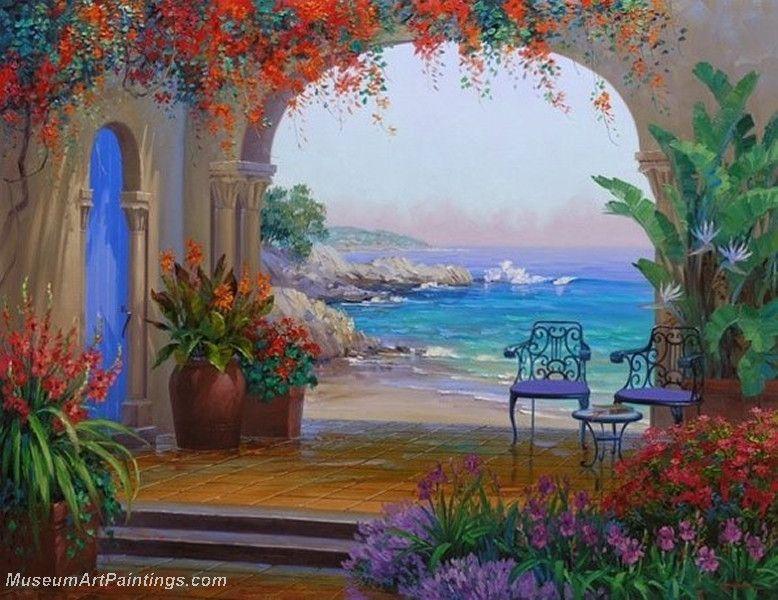 Flower Garden Oil Painting 007