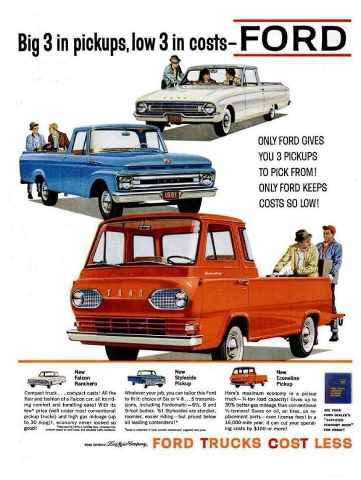 Ford Trucks 1961 Ford Trucks Ford Pickup Trucks Trucks