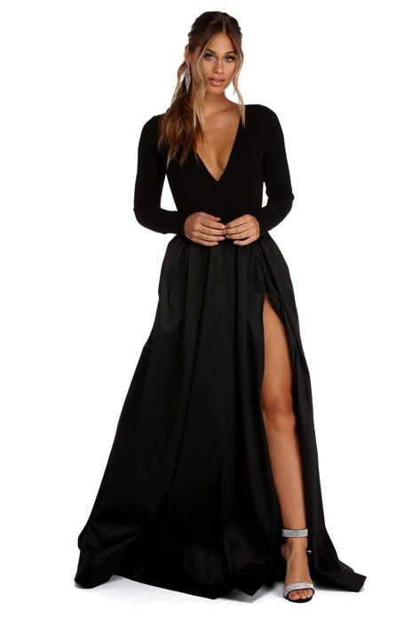 Rhonda High Slit Taffeta Dress | Products | Pinterest | Taffeta ...