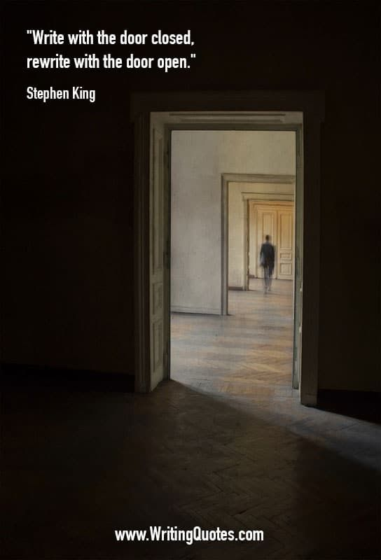Stephen King quotes on writing with the door closed by Stephen King on the best writing quotes website. & Stephen-King-Quotes-Door.jpg (544×800) | Stephen King~ | Pinterest