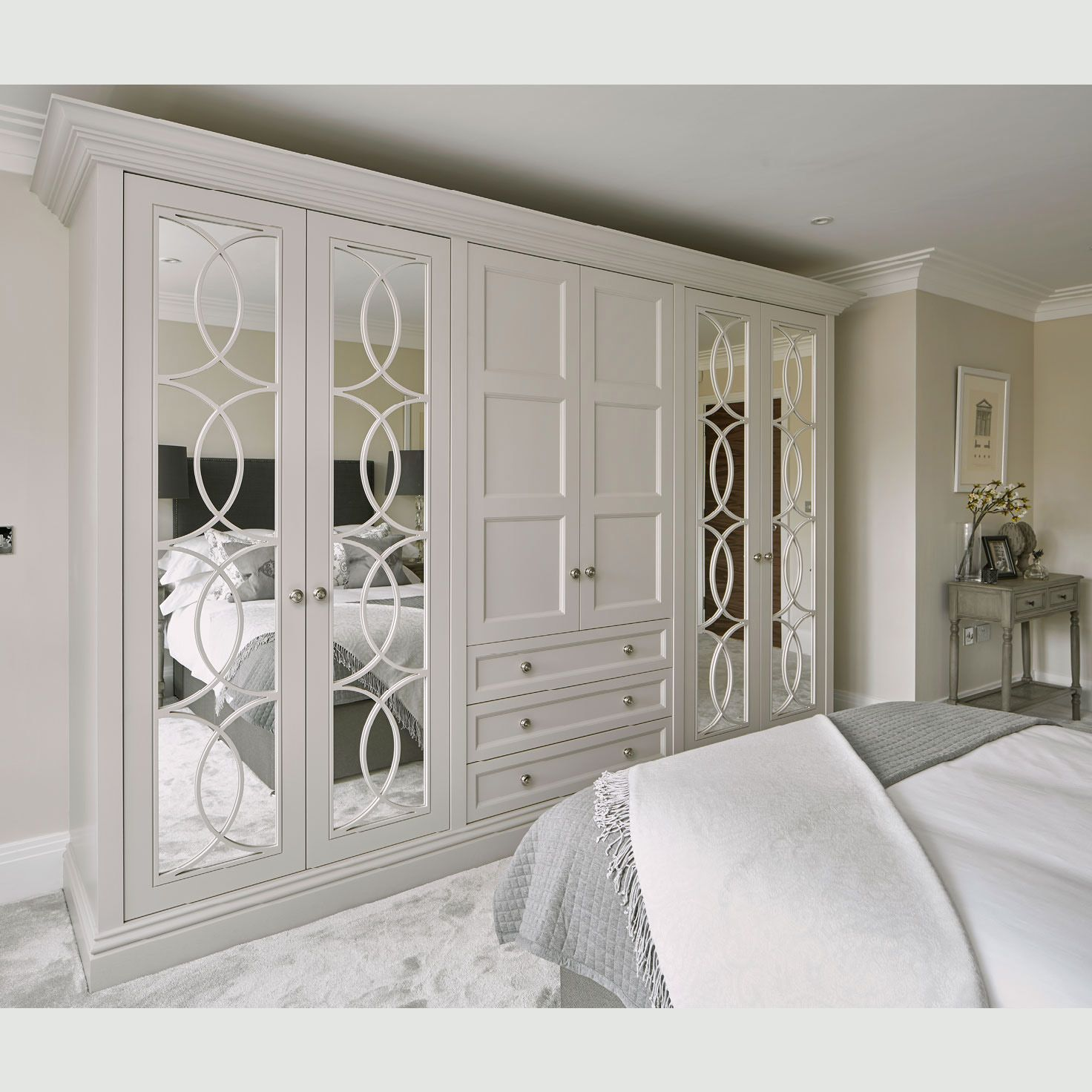 Empire Design Wardrobe Handmade Mirrored Fitted