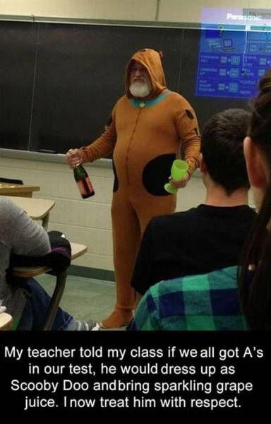 Scooby Doo Costume Sparkling Grape Juice And One Cool Teacher Real Funny Male Teacher Scooby Doo Teacher