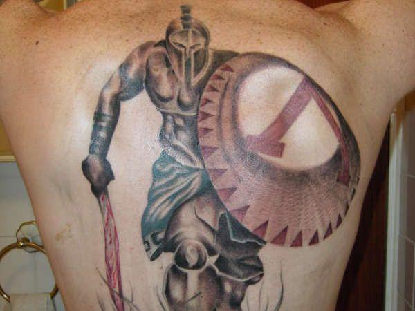 spartan helmet tattoo 3d 25 impressive warrior tattoos slodive spartan warrior tattoos. Black Bedroom Furniture Sets. Home Design Ideas