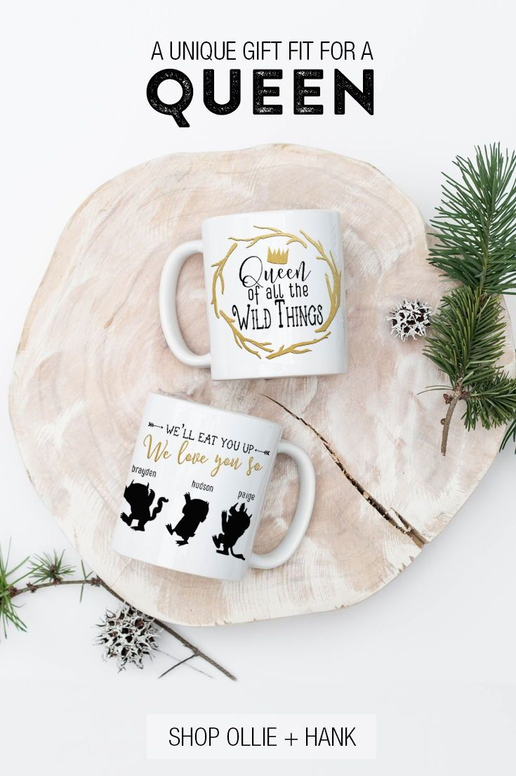 Mom Of Boys Gift | Queen Of All The Wild Things Mug | Pinterest Mini ...