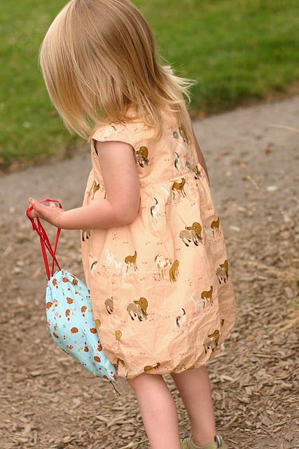 Would love to make this Oliver + S bubble dress in the same fabric. Love horseys!