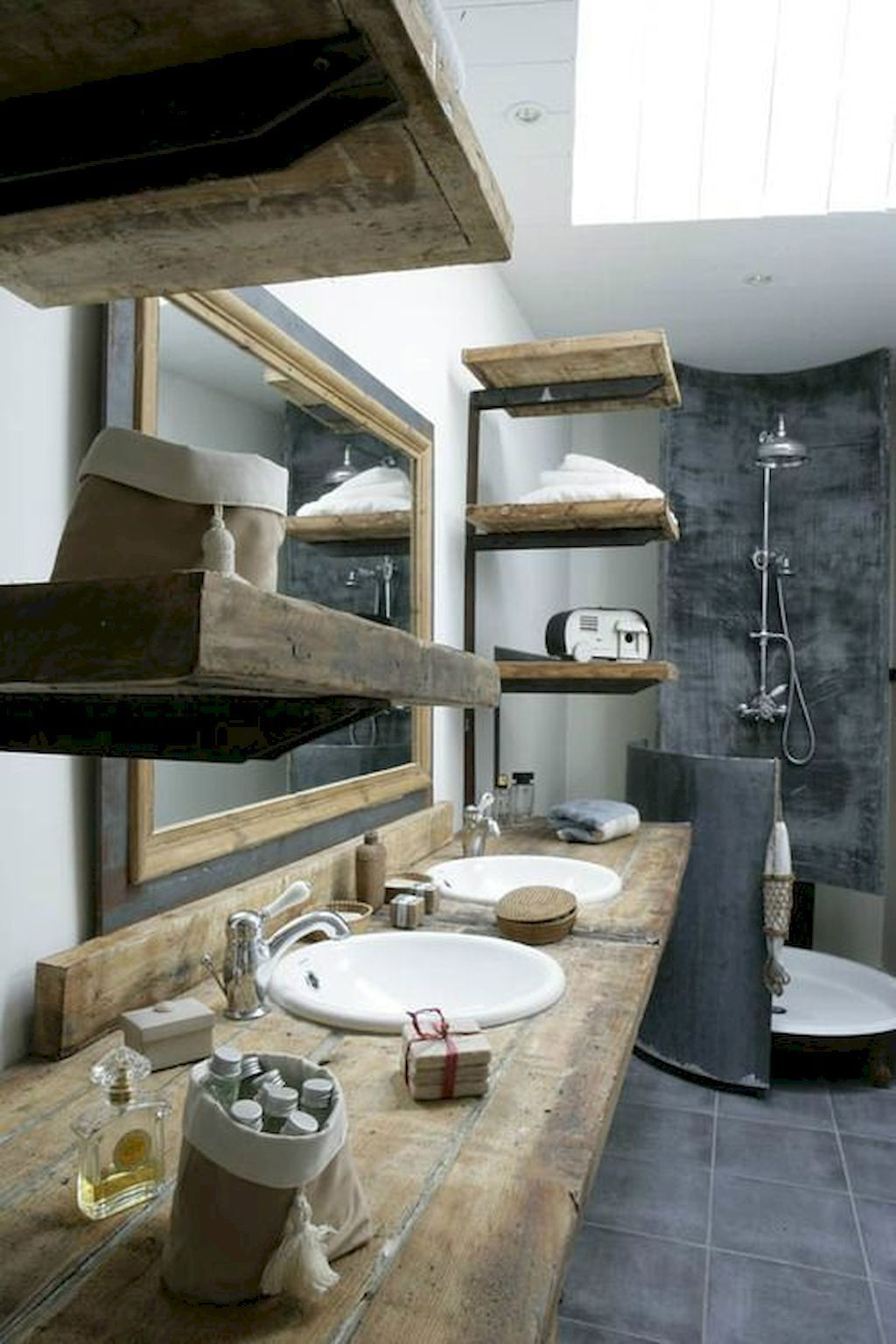 37 modern farmhouse bathroom makeover decor ideas