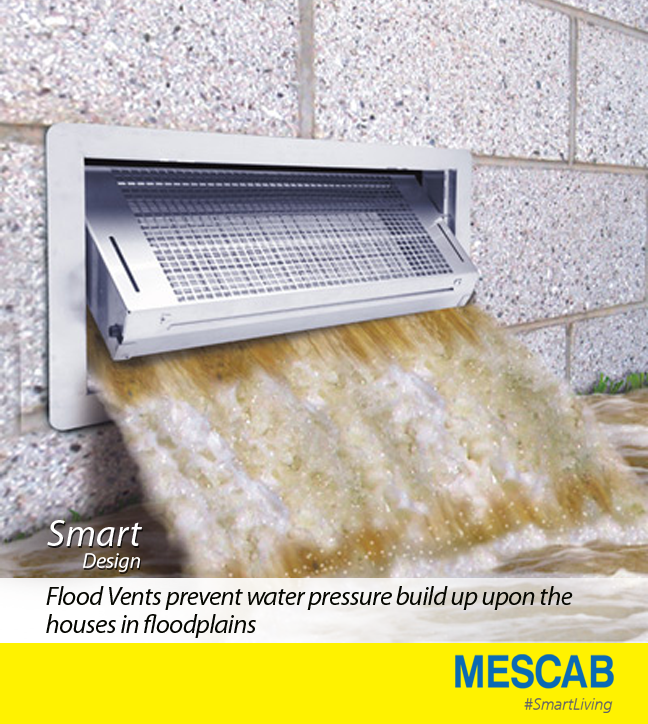Smart Design Of The Flood Vents Are Referred To As The Wet Flood Proofing Solution For Houses And Buildings Flood Vents Flood Prevention Flood