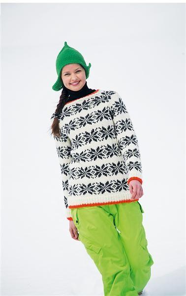 Photo of Trendy Norwegian sweater with neon find it at sandnesgarn.no 9041212  www.sandne…