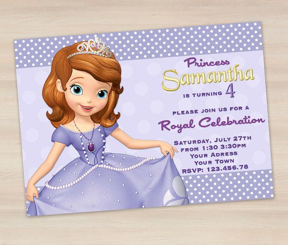 Hey, I found this really awesome Etsy listing at https://www.etsy.com/listing/189720000/sofia-the-first-invitation-princess