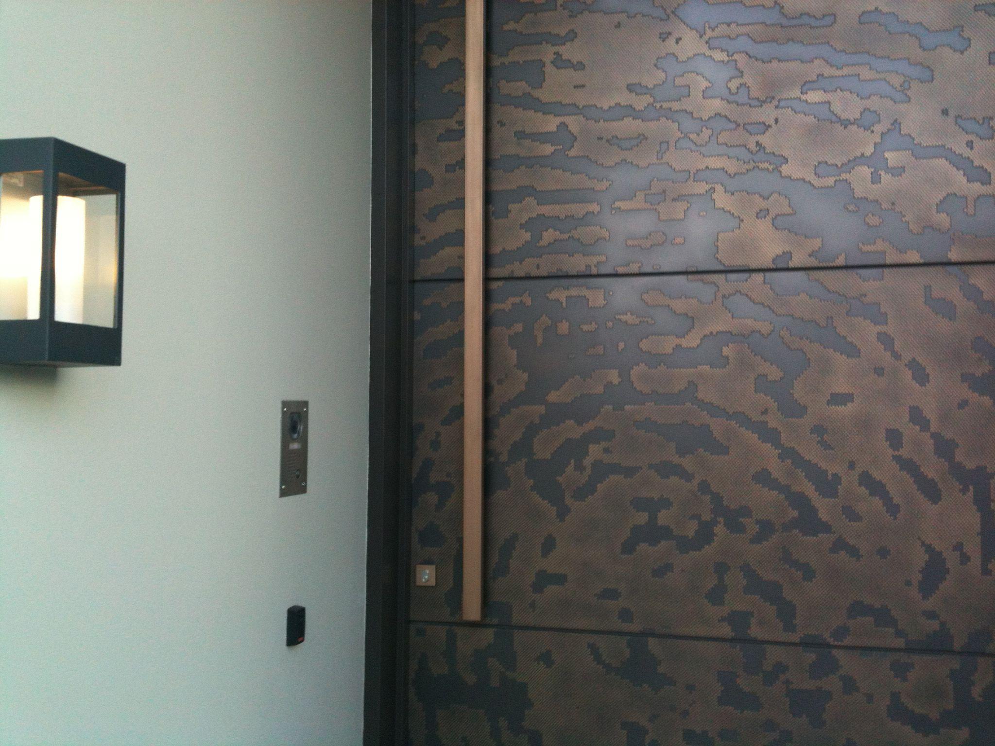 Axolotl Metal Entry Door Bronze Graphite Viper Fingerprint Design