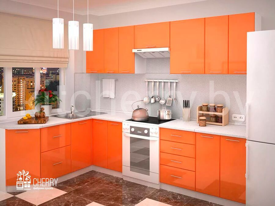 Best Orange Kitchen Cabinets Decorating Ideas Kitchen 400 x 300