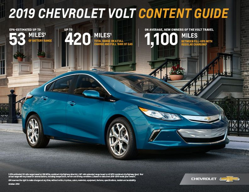 Pin By Ron Westphal Chevrolet On 2019 Chevrolet Volt Chevrolet