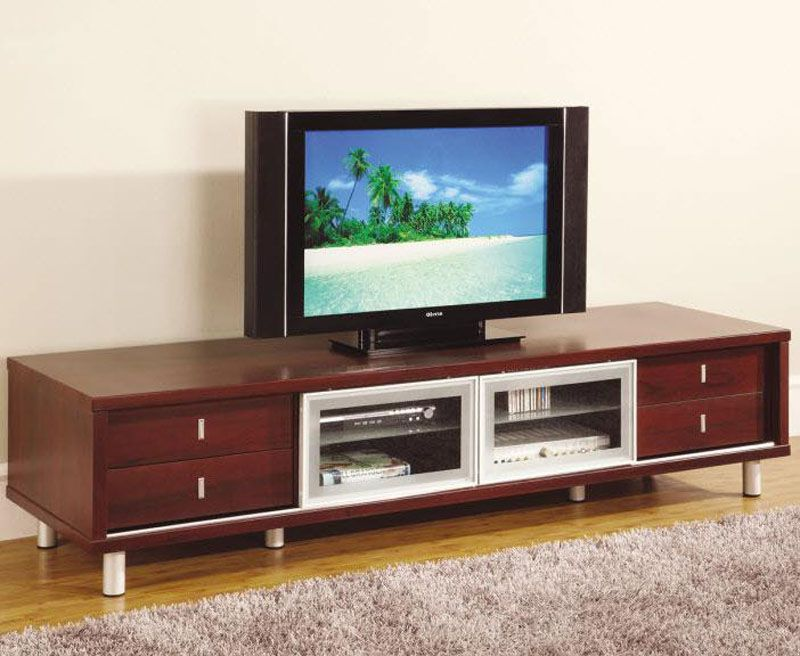 Mahogany Color Cabinet Tv Stand System Furniture Global