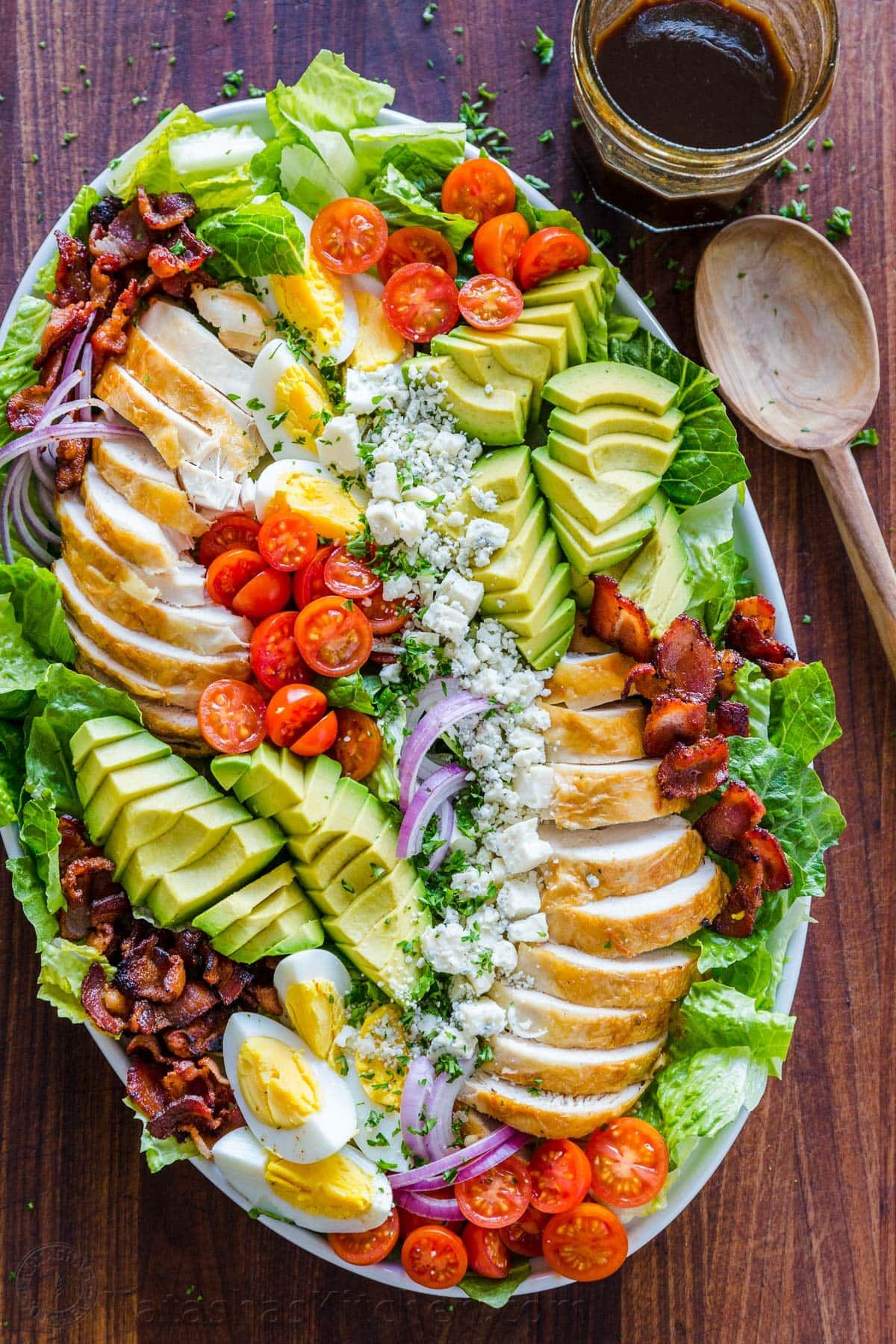 Cobb Salad with the Best Dressing (VIDEO) - Natash