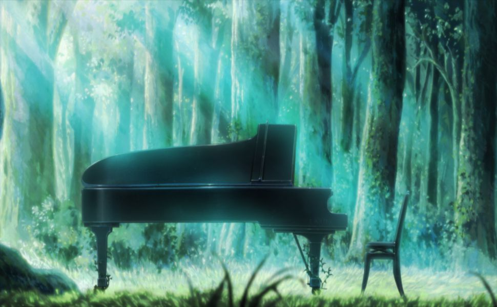 Piano In The Forest HD Wallpaper