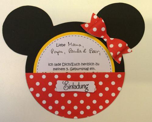 Minnie Mouse Einladung #minniemouse
