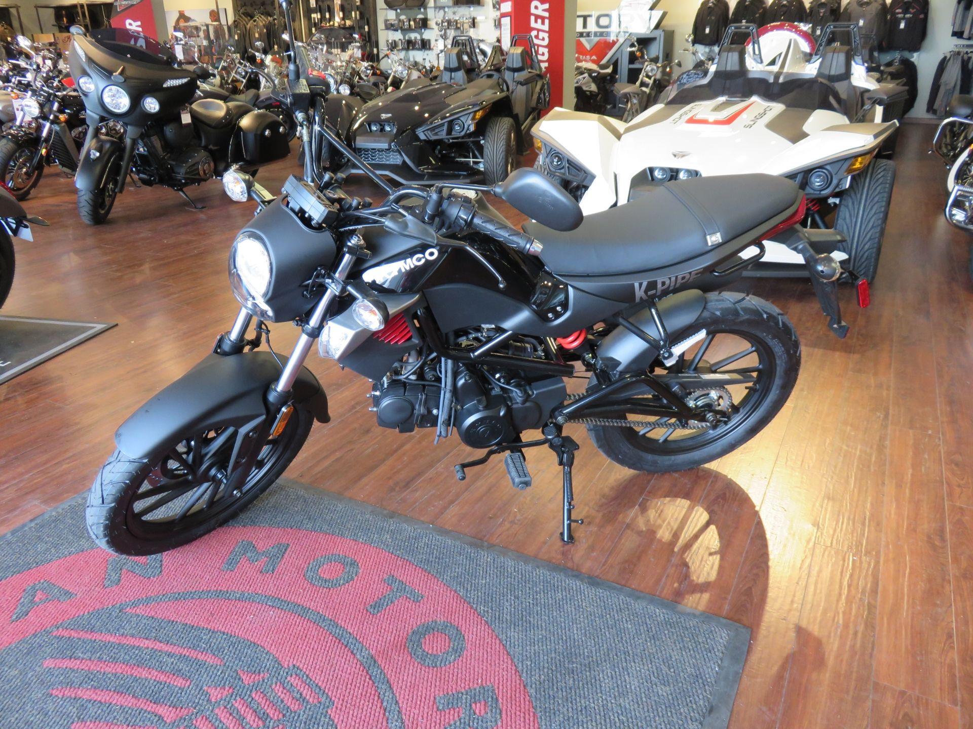 National black bikers roundup 2016 - 2016 Kymco K Pipe 125cc In Matt Black Great Starter Bike