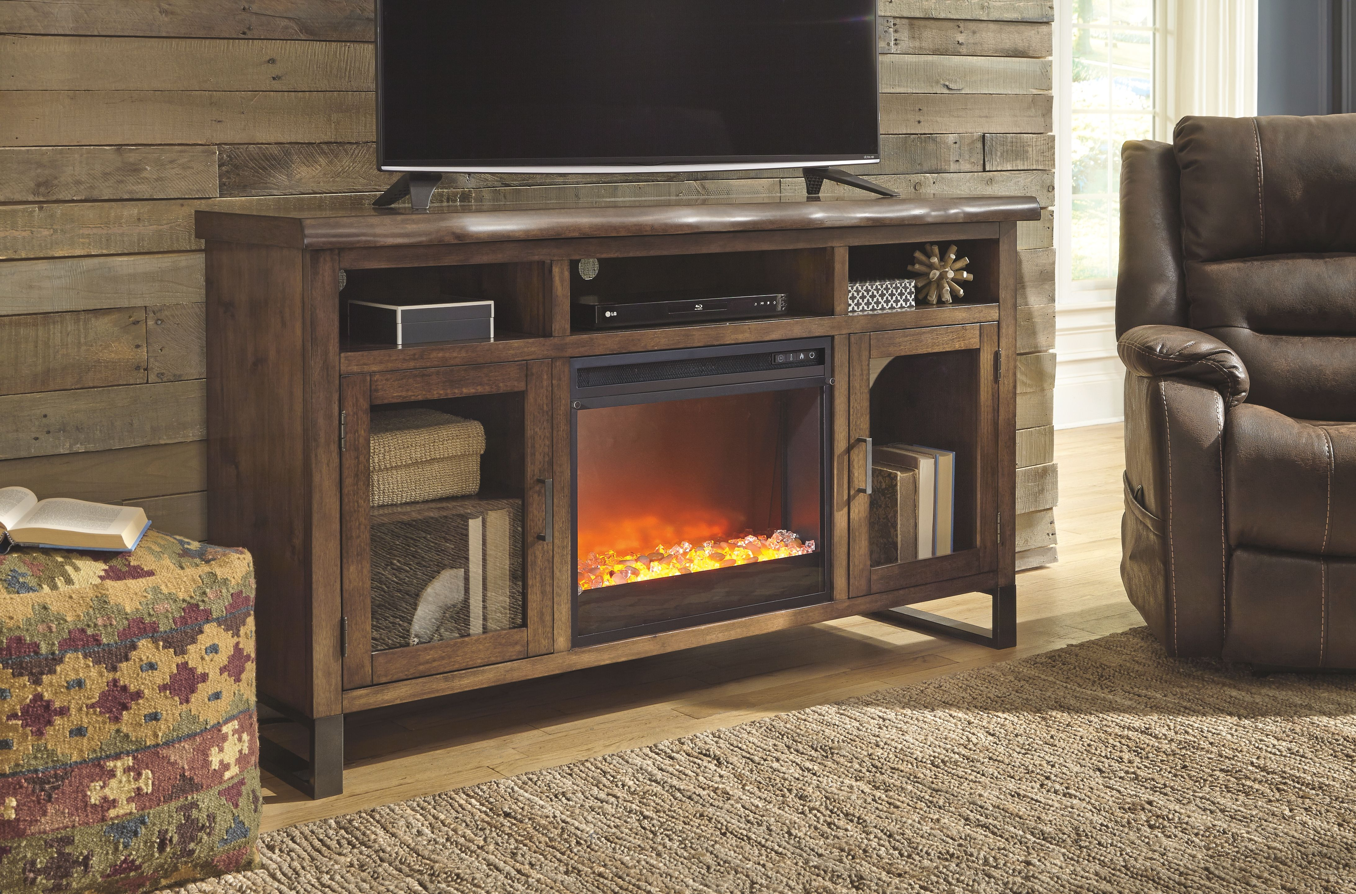 Esmarina 62 Tv Stand With Electric Fireplace Products