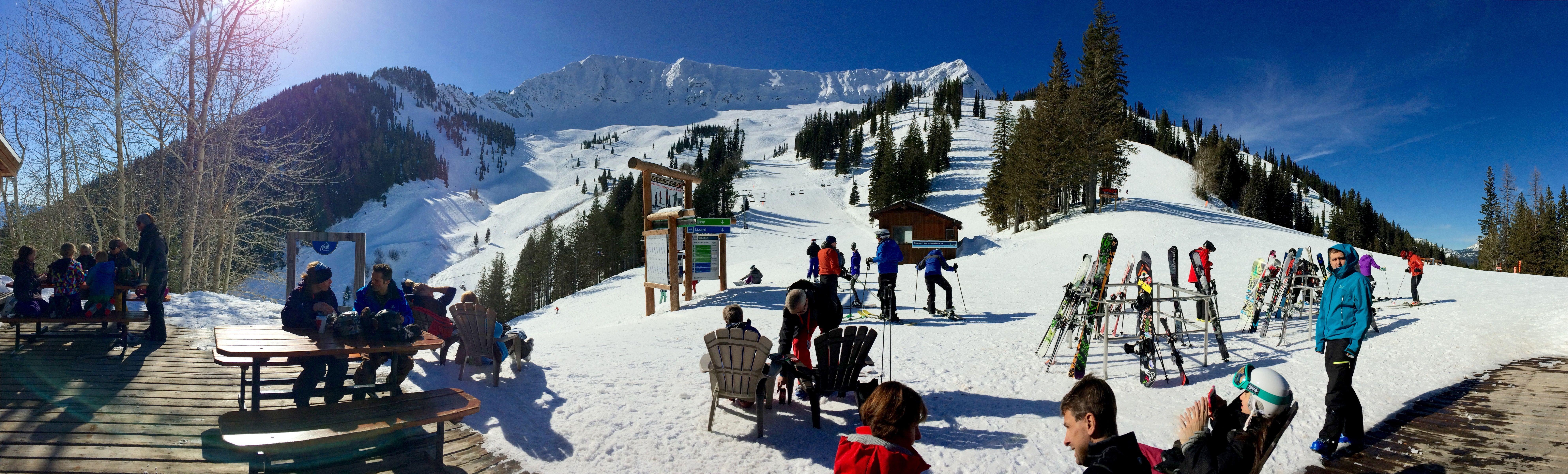 Open air lunch: Fernie, British Columbia