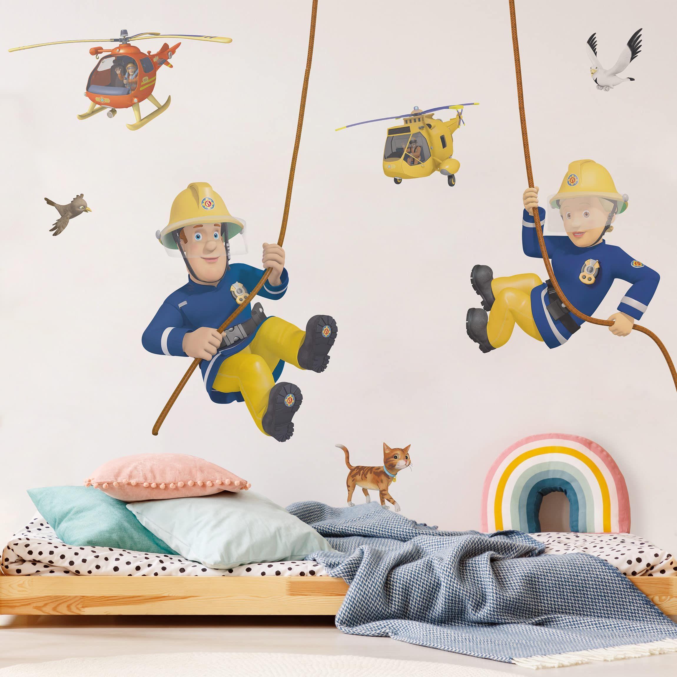 Wandtattoo Feuerwehrmann Sam Helden Sticker Wandaufkleber Kinderzimmer Wanddeko