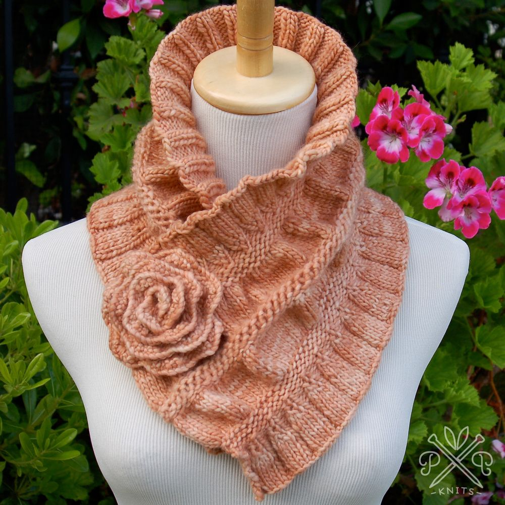 Knitting Scarf Ideas : Ruffled ruched scarf wool dr oz and yarns