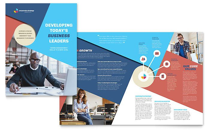 Corporate Strategy Brochure Template Design By StockLayouts