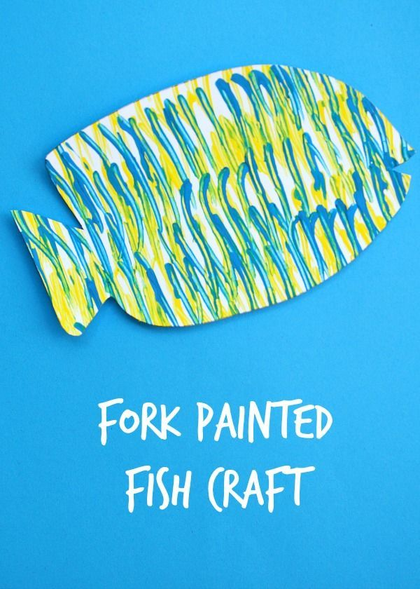 Kids Painted Fish Fork Painted Fish Craf...