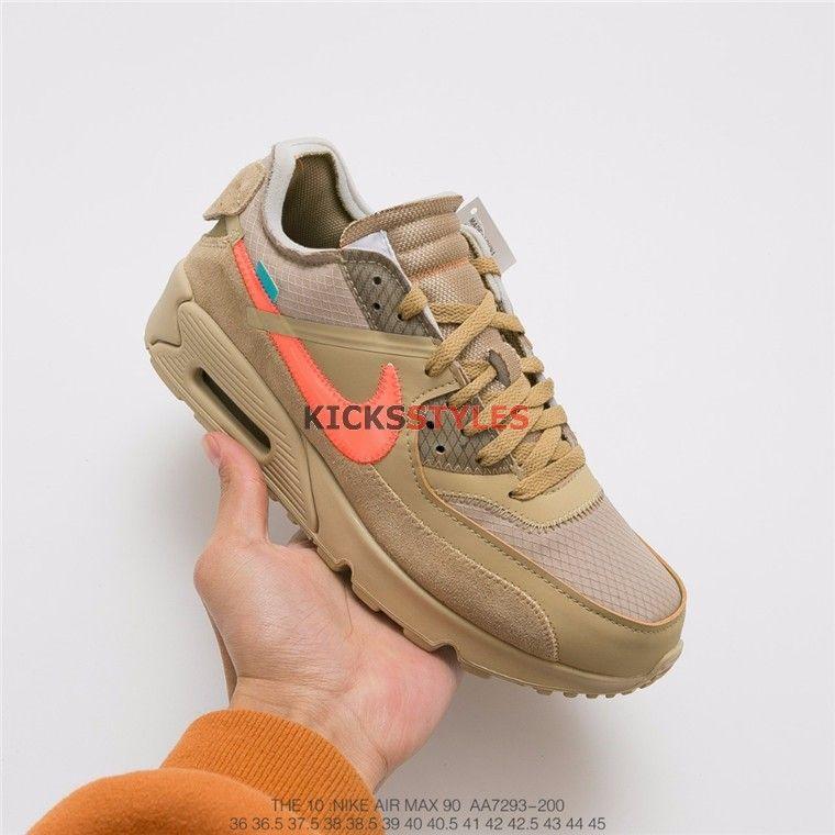 f2f2d1f3592 Off-White x Nike Air Max 90 Desert Ore AA7293-200
