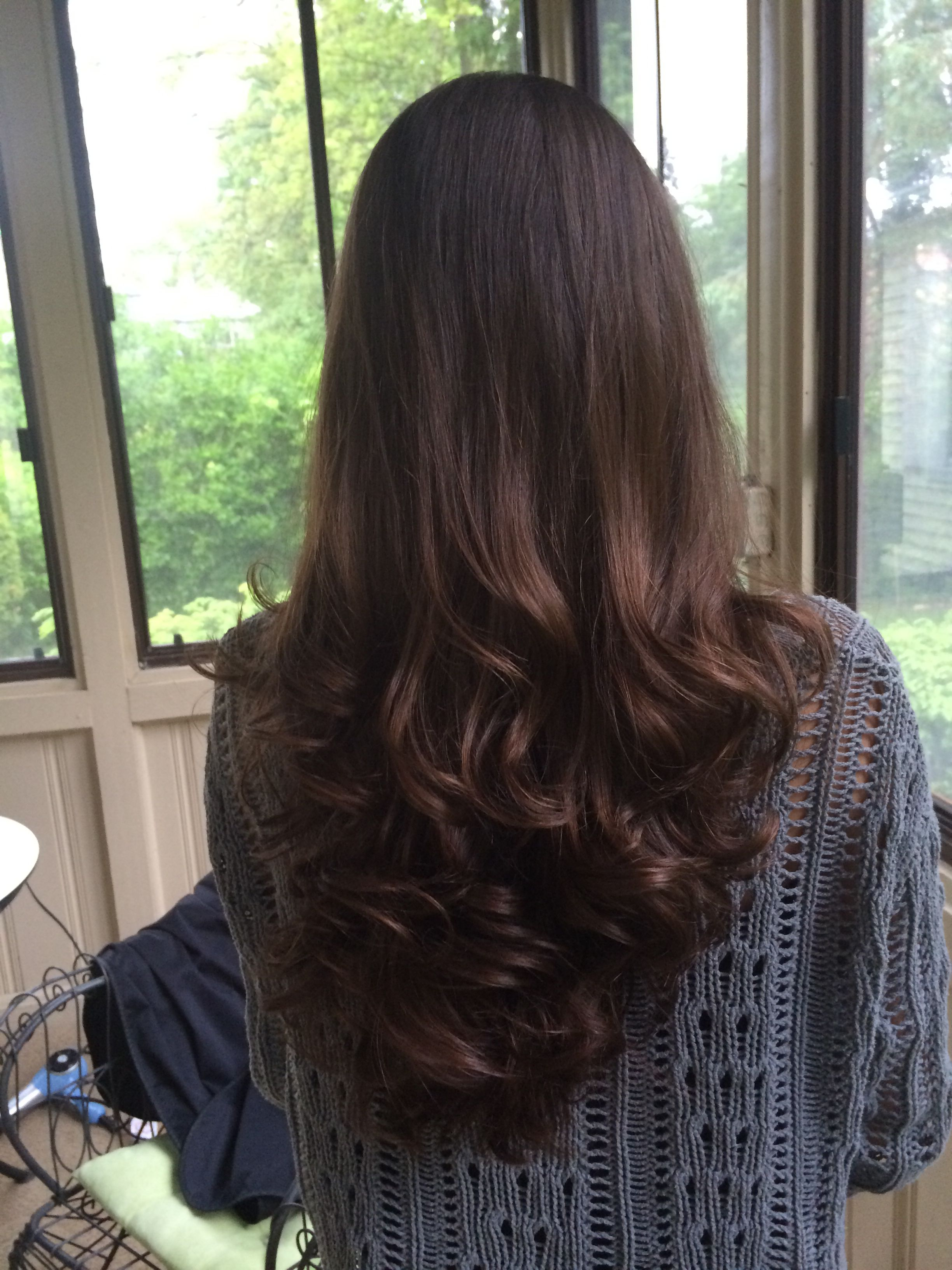 Long Layered Victoria Secret V Shape Haircut With Curls Wish My Hair Would Look Like That Haircuts For Long Hair Long Layered Hair Short Hair Styles Easy