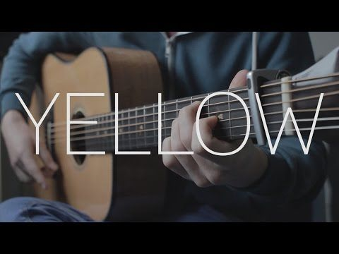 Yellow Acoustic Guitar Coldplay Cover Youtube Fingerstyle Guitar Best Acoustic Guitar Acoustic Guitar