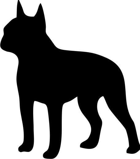 Boston Terrier Dog Breed Silhouette Custom Vinyl Decal Sticker For - Custom vinyl decals boston