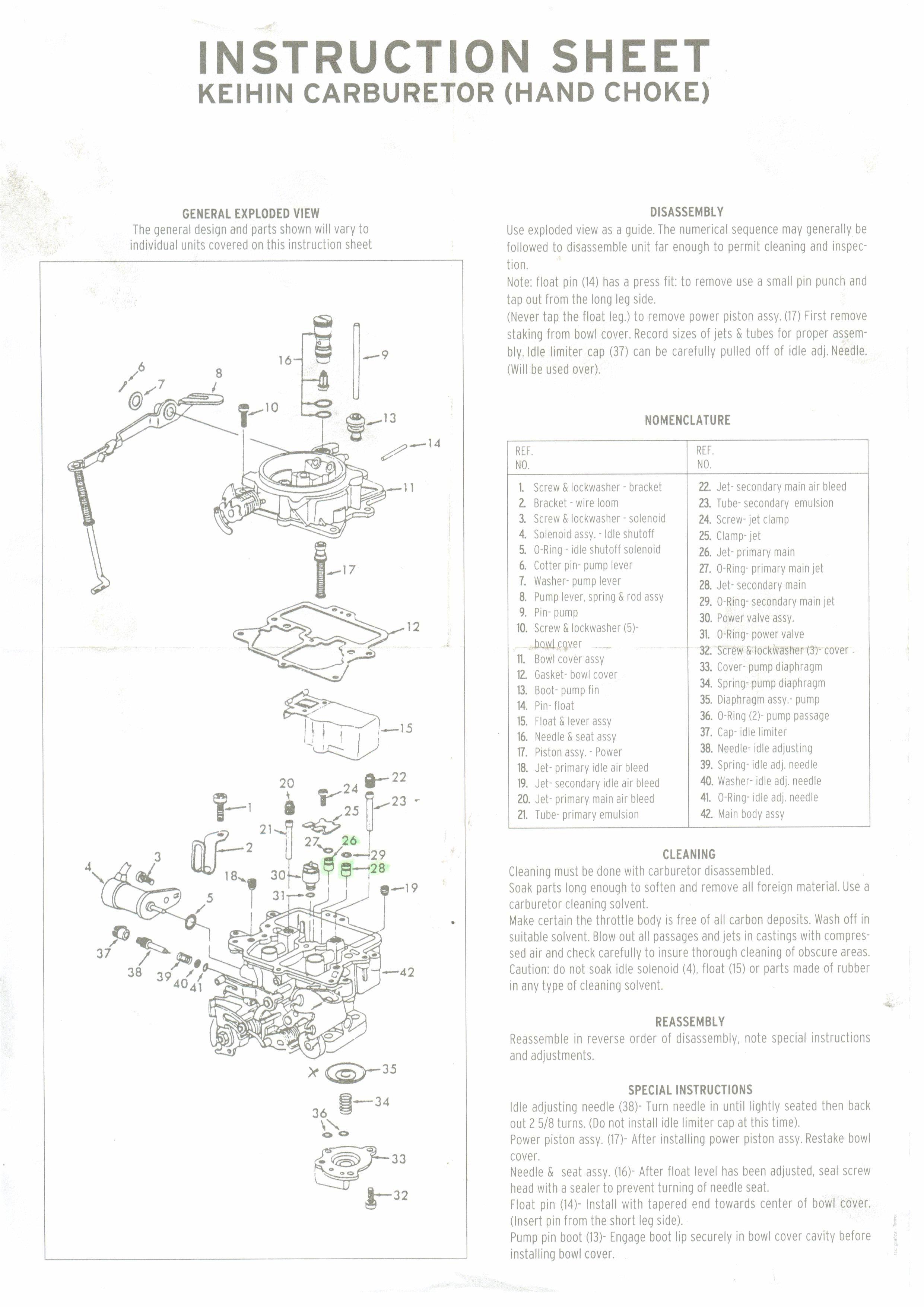 Carburetor Diagram