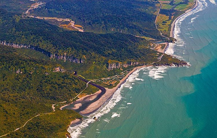 Punakaiki, where the pancake rocks are, see more, learn more, at New Zealand Journeys app for iPad www.gopix.co.nz
