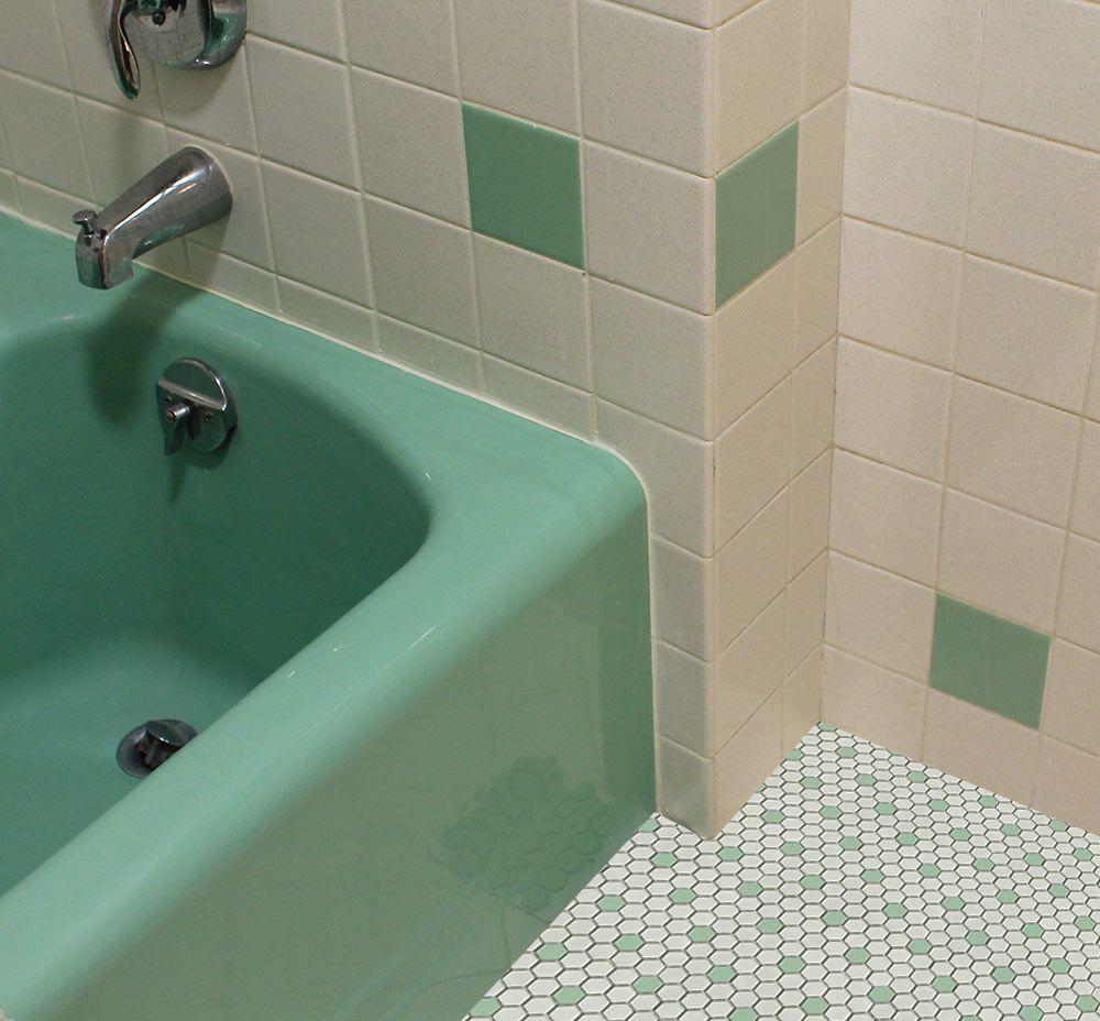 Green Bath Tile