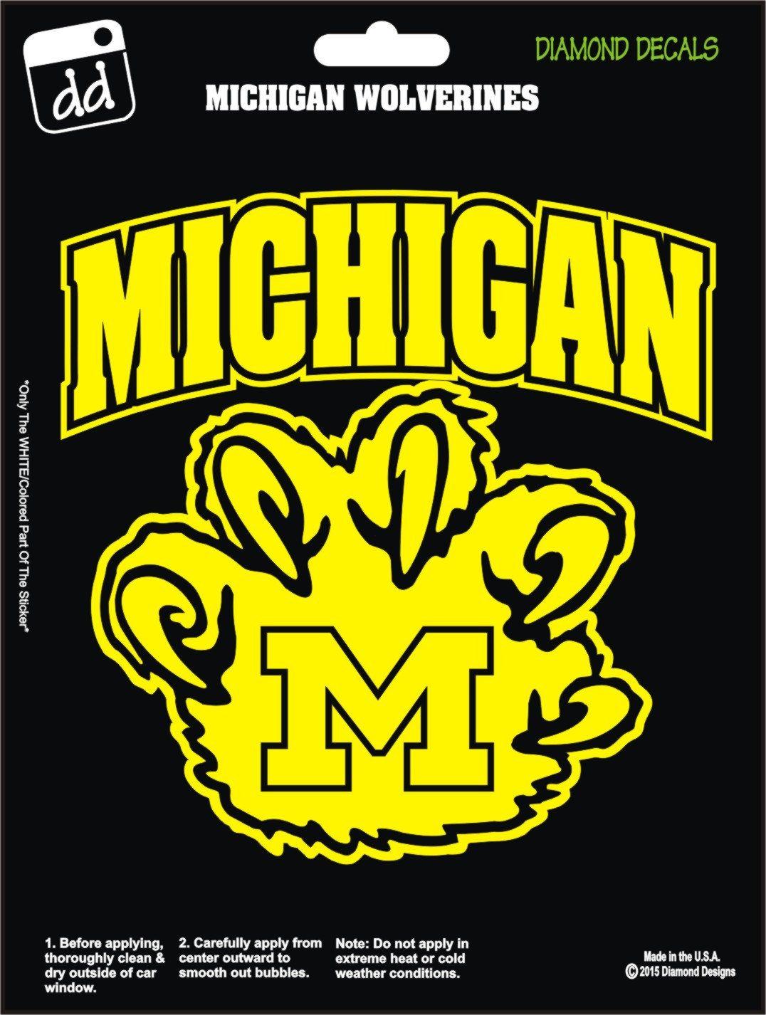 Michigan Wolverines Claw College Football Decal Vinyl Sticker Car Truck Laptop Phone Window Football Decal Michigan Wolverines Wolverine Claws [ 1426 x 1076 Pixel ]