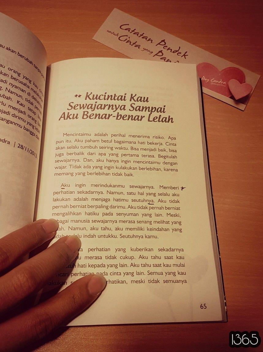 Catatan Pendek Untuk Cinta Yang Panjang Kutipan Buku Buku Kata Kata Motivasi