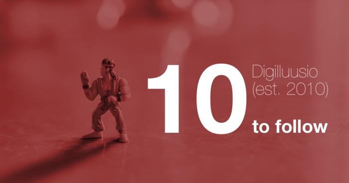 10 tekijää, joita seuraan somessa: http://hurraakerkko.com/2015/01/30/digilluusio-sosiaalinen-media-seuraaja/