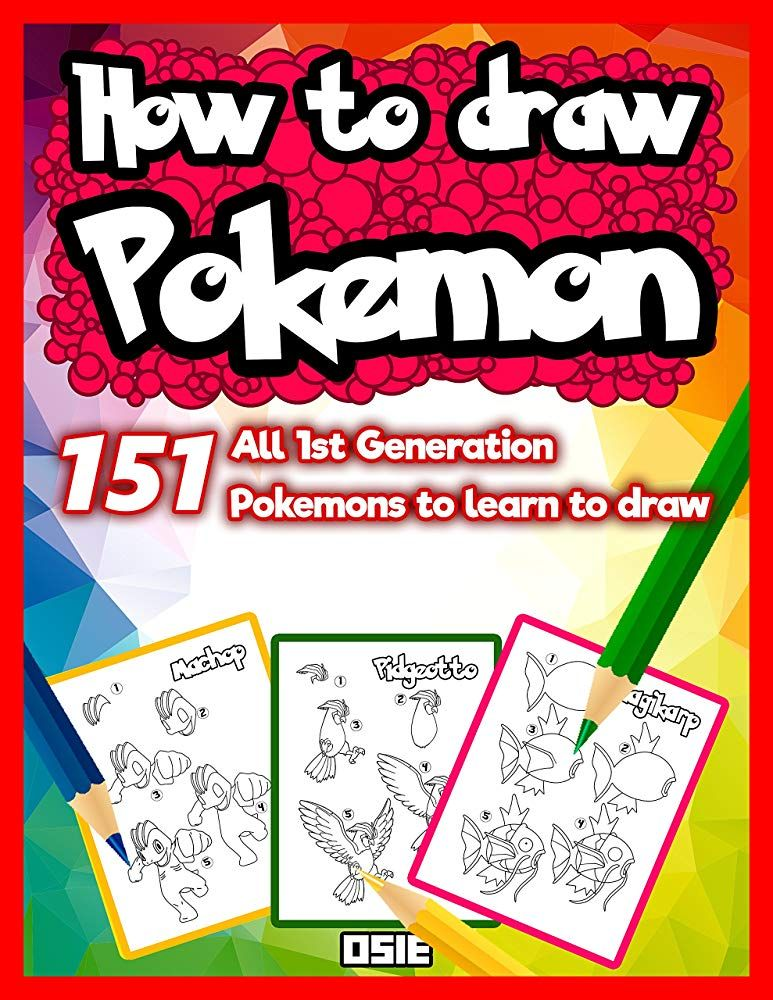 How To Draw Pokemon 50 Pokemons To Learn To Draw Unofficial Book Book 1 Free Books Download Free Ebooks Download Pokemon Drawings