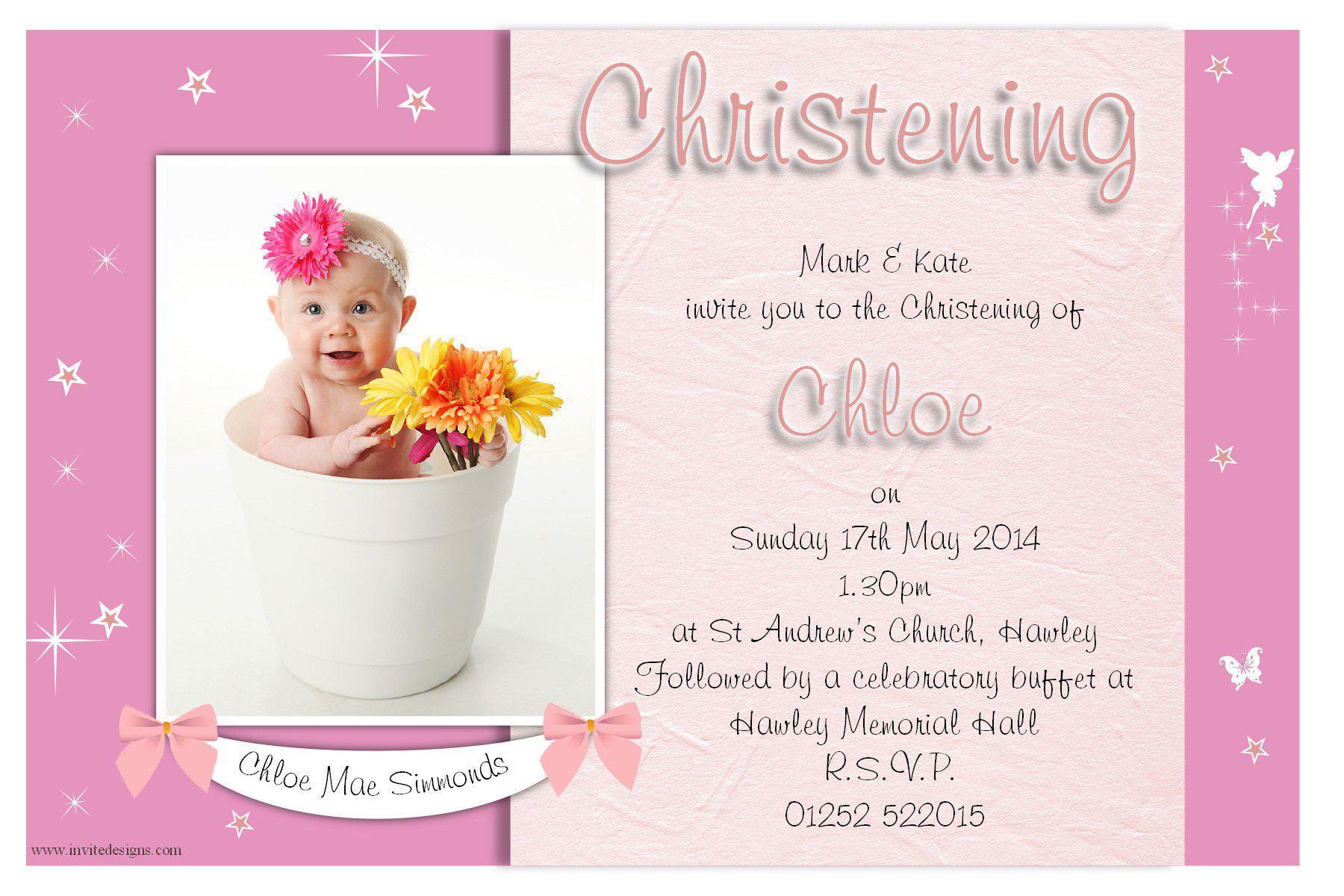 Invitation Card For Christening Invitation Card For Christening – Invitation Card Baptism